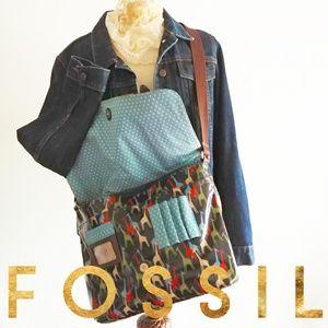 Rare Fossil Large Key-Per Messenger Giraffe Bag